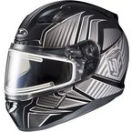 Black/Gray/Silver CL-17SN MC-5 Redline Helmet w/Frameless Electric Shield - 1251-1105-08