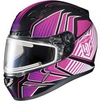 Black/Pink/White CL-17SN MC-8 Redline Helmet w/Frameless Electric Shield - 1251-1108-06
