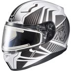 White/Gray/Silver CL-17SN MC-10 Redline Helmet w/Frameless Electric Shield - 1251-1110-08