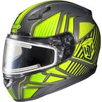 Gray/Hi-Viz/Black CL-17SN MC-3H Redline Helmet w/Frameless Electric Shield - 1251-1113-05