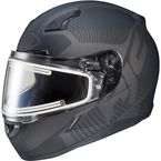 Matte Black CL-17SN MC-5F Misson Helmet w/Frameless Electric Shield - 1251-1235-08