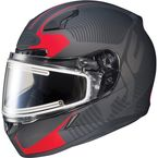 Matte Black/Red CL-17SN MC-1F Misson Helmet w/Frameless Electric Shield - 133-816