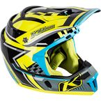 Blue/Yellow/Black F4 Legacy Voltage Helmet - 5106-001-130-301