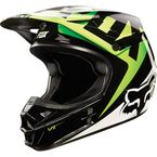 Black/Green V1 Race Helmet - 10951-151-S