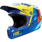 Youth Yellow/Blue V1 Vandal Helmet - 11948-586-L