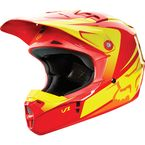 Youth Red/Yellow V1 Imperial Helmet - 11966-080-L