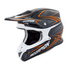 Black/Orange VX-R70 Blur Helmet - 70-5085