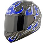 Glossy Blue SS700 Trial By Fire Helmet - 87-5787