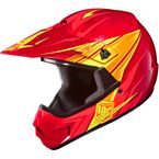 Youth Red/Orange MC-1 CL-XY Pop 'N Lock Helmet - 0863-2001-54