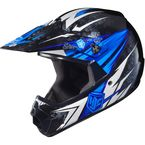 Youth Blue/Black/White MC-2 CL-XY Pop 'N Lock Helmet - 0863-2002-55