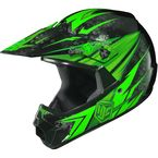 Youth Hi-Viz Neon Green/Black MC-4 CL-XY Pop 'N Lock Helmet - 0863-2004-56