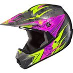 Youth Black/Hi-Viz Neon Green/Pink MC-8 CL-XY Pop 'N Lock Helmet - 0863-2008-56