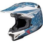 Blue/White MC-2F CL-X7 El Lobo Helmet - 0864-1132-08