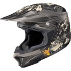 Black/Gray/White MC-5F CL-X7 El Lobo Helmet - 0864-1135-06