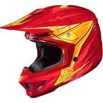 Red/Orange/Yellow MC-1 CL-X7 Pop 'N Lock Helmet - 0864-2001-08