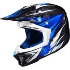 Blue/Black/White MC-2 CL-X7 Pop 'N Lock Helmet - 57-1326