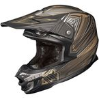Matte Black/Gray/Gold MC-5F FG-X Legendary Lucha Helmet - 0867-1335-08