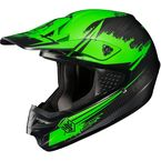 Hi-Viz Neon Green/Black MC-4F CS-MX Second Phase Helmet - 0870-2004-06