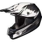 White/Black MC-10F CS-MX Second Phase Helmet - 0870-2010-06