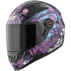 Gloss Black Wicked Garden SS1300 Helmet - 87-6761