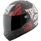 Matte Black/White/Red Tapout Moto SS700 Helmet - 87-7599