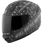 Black/Charcoal Full Battle Rattle SS1400 Helmet - 87-8352