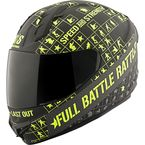 Black/Hi-Viz Full Battle Rattle SS1400 Helmet - 87-8359