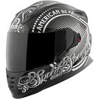 Black/Silver American Beauty SS1600 Helmet - 87-8567