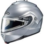Silver IS-Max 2 Snowmobile Helmet w/Electric Shield - 181-576