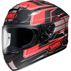 Black//Red/Silver X-Twelve Trajectory TC-1 Helmet - 0112-2701-05