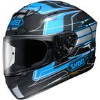 Black/Blue/Silver X-Twelve Trajectory TC-2 Helmet - 0112-2702-06