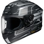 Black/Silver X-Twelve Trajectory TC-5 Helmet - 0112-2705-06