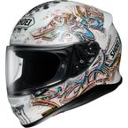White/Blue/Yellow RF-1200 Graffiti TC-6 Helmet - 0109-2006-06