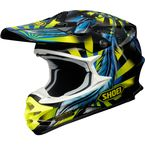 Black/Blue/Yellow VFX-W Grant 2 TC-3 Helmet - 0145-8803-06