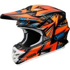Orange/Blue/Black VFX-W Maelstrom TC-8 Helmet - 0145-8508-06