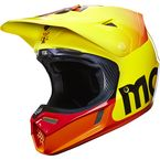 Yellow V3 40 Year Limited Edition Moto-X Helmet - 14254-005-L