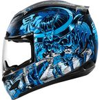 Black/Blue Airmada Shadow Warrior Helmet - 0101-7755