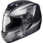 Black/White/Gray CS-R2 MC-5 Seca Helmet - 0812-1905-06