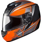 Neon Orange/Black/Gray CS-R2 MC-6 Seca Helmet - 0812-1906-06