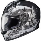 Black/Gray/White FG-17 MC-5 Flutura Helmet - 0817-1605-06