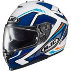 Blue/White/Orange IS-17 MC-2 Spark Helmet - 0818-1202-08