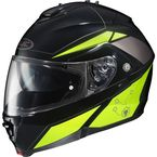 Black/Hi Viz Yellow IS-MAX II MC-3H Elemental Modular Helmet - 0841-2113-06