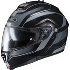 Black/Gray IS-MAX II MC-5F Style Modular Helmet - 0841-2205-08