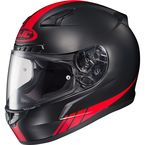 Black/Red CL-17 MC-1F Streamline Helmet - 0851-1631-06