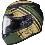 Green/Tan CL-17 MC-4F Mech Hunter Helmet - 0851-1734-08