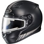 Matte Black/Reflective CL-17SN Streamline MC-5GF Snowmobile Helmet w/Electric Shield - 139-756