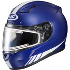 Matte Blue/White CL-17SN Streamline MC-2F Snowmobile Helmet w/Electric Shield - 139-826