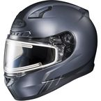 Matte Anthracite/Black CL-17SN Streamline MC-5F Snowmobile Helmet w/Electric Shield - 139-858