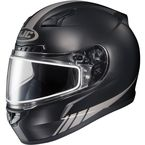 Matte Black/Reflective CL-17SN Streamline MC-5RF Snowmobile Helmet w/Dual Lens Shield - 57-19552