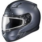 Matte Anthracite CL-17SN Streamline MC-5F Snowmobile Helmet w/Dual Lens Shield - 839-858
